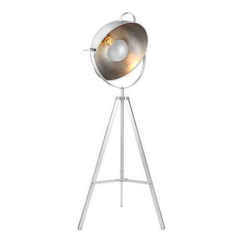 Sztalugowa LAMPA podłogowa TOMA FLOOR BP-8055-WH Azzardo stojąca OPRAWA na trójnogu kopuła biała, BP-8055-WH