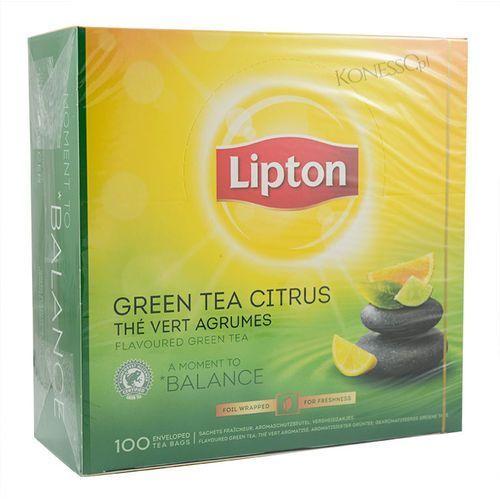 Zielona herbata  classic green tea citrus 100 kopert marki Lipton