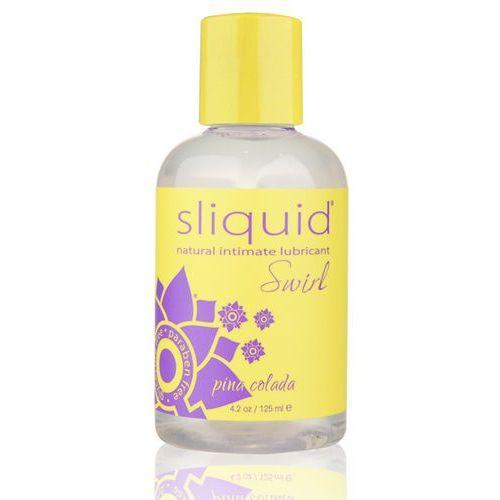 Smakowy środek nawilżający - naturals swirl lubricant 125 ml pina colada marki Sliquid