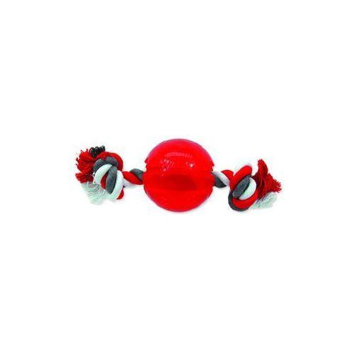Zabawka dog fantasy strong piłeczka gumowa na sznurze czerwona 8,2 cm marki Plaček