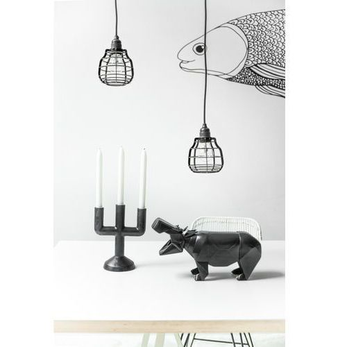 Hk living :: lampa lab matowa szara wisząca - szary