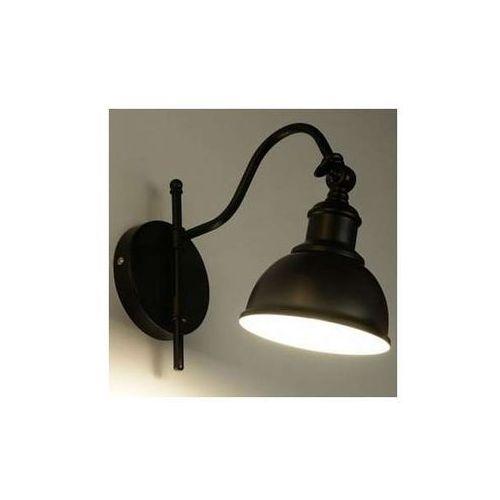 Sol Kinkiet lampa ścienna sl.310 industrialna oprawa regulowana kopuła metalowa czarna