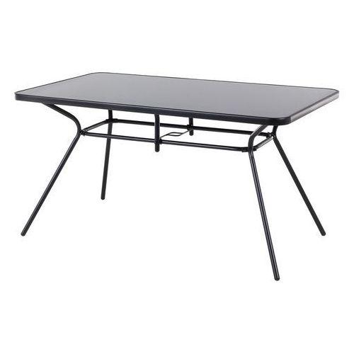 Stół ogrodowy czarny - na balkon - na taras - stal - 140x80 cm - LIVO