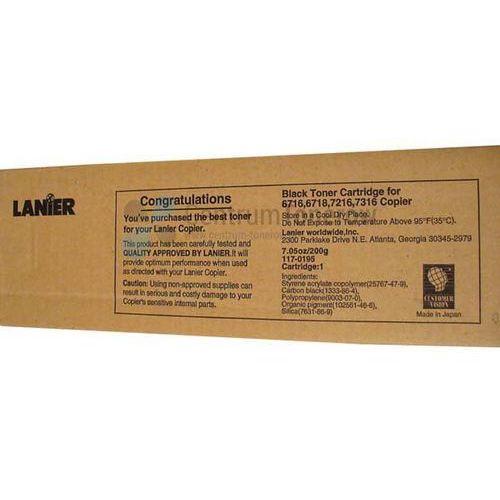 Lanier oryginalny toner 117-0195, black, 6000s, lanier t-6716, 6718, 7216, 7316, 1x200g