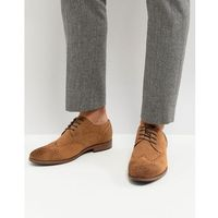 River island suede brogue in tan - tan