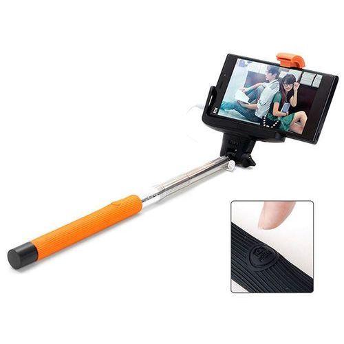4kom.pl Pomarańcz uniwersalny uchwyt selfie stick do aparatów i smartfonów monopod z07-7 - pomarańczowy