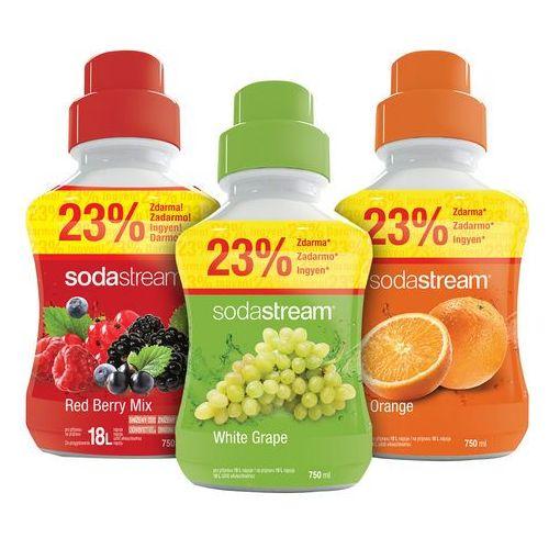Sodastream  syropy pomarańczowy, winogronowy i owoce leśne 750 ml (8590669179565)