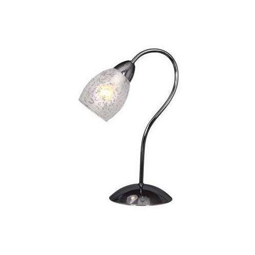 Reality Lampa stołowa lampka crissy 1x40w e14 chrom / biały 515801-06 (5906737308738)