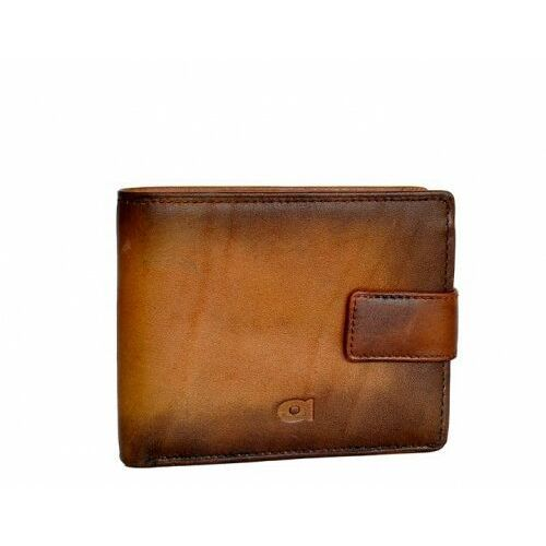 Alive p-05 koniak - skórzany portfel marki Daag