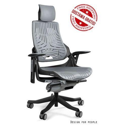 Fotel ergonomiczny czarny wau elastomer - szary zadzwoń 692 474 000 - otrzymasz rabat! marki Unique