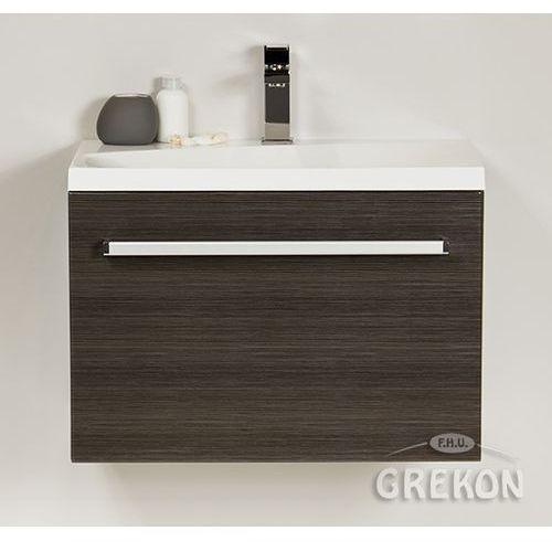 Gante Grafitowa szafka wisząca z umywalką 60/39m seria fokus fino