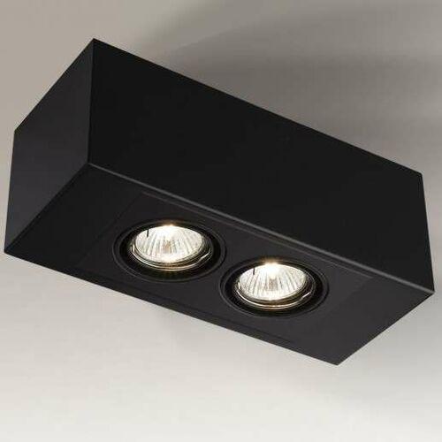 Nastropowa LAMPA regulowana SETO H 1215/GU10/CZ Shilo sufitowa OPRAWA prostokątna SPOT metalowy czarny (1000000329933)