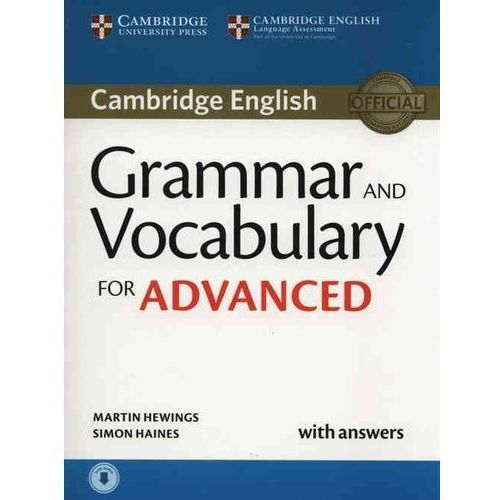 Grammar and Vocabulary for Advanced.Podręcznik z Odpowiedziami + Audio CD, Cambridge University Press