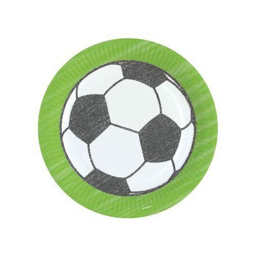 Talerzyki papier piłka nożna 23cm 8szt marki Twojestroje.pl