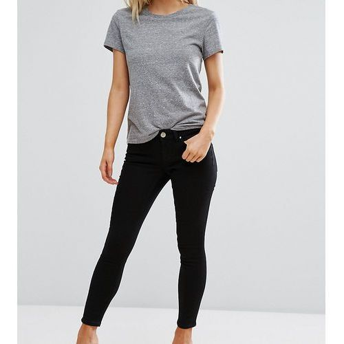 ASOS DESIGN Petite Whitby low rise skinny jeans in clean black - Black, jeans