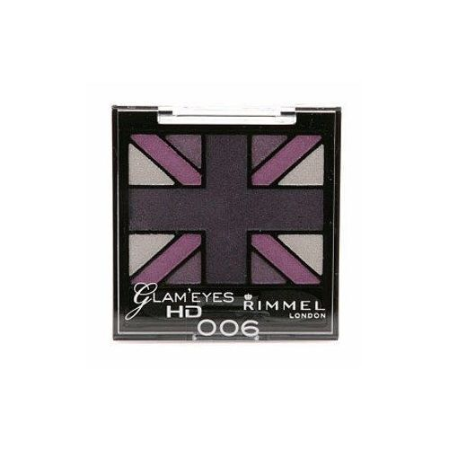 Rimmel London Glam Eyes HD Quad Eye Shadow 2,5g W Cień do powiek 008 True Union Jack (3607342298200)