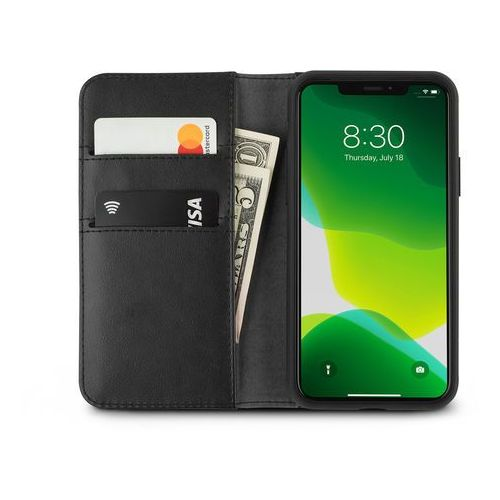 overture - etui 2w1 iphone 11 pro z kieszeniami na karty + stand up (charcoal black) marki Moshi