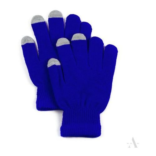 Evangarda Szafirowe elastyczne rękawiczki damskie do ekranów dotykowych - szafirowy