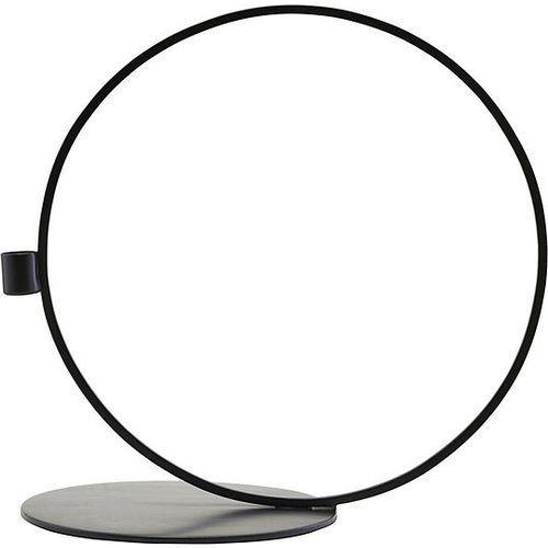 Świecznik Cirque koło 33 cm czarny