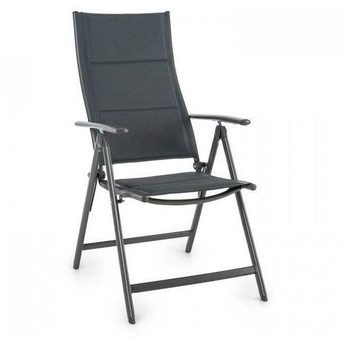Blumfeldt stylo noble grey krzesło ogrodowe składane aluminiowe szare