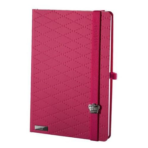 Notes a6 lanybook glamorous beauty matra w kratkę fuksja marki Lediberg