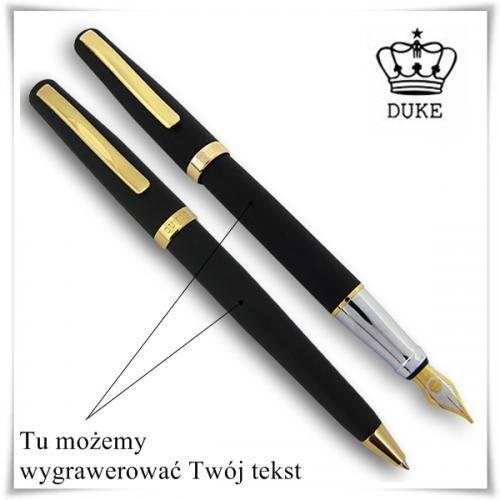 Zestaw pióro i długopis DUKE Czarny Mat GT z możliwością graweru, kup u jednego z partnerów