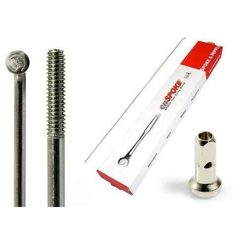 Szprychy CNSPOKE STD14 2.0-2.0-2.0 stal nierdzewna 280mm srebrne + nyple 144szt., CN-STD280