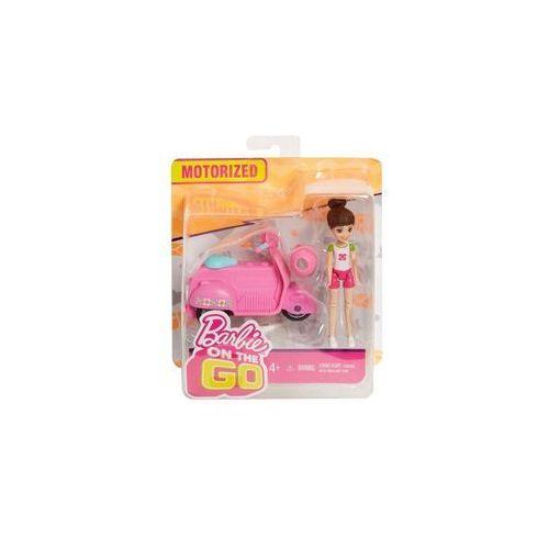 on the go różowy skuter + lalka marki Barbie