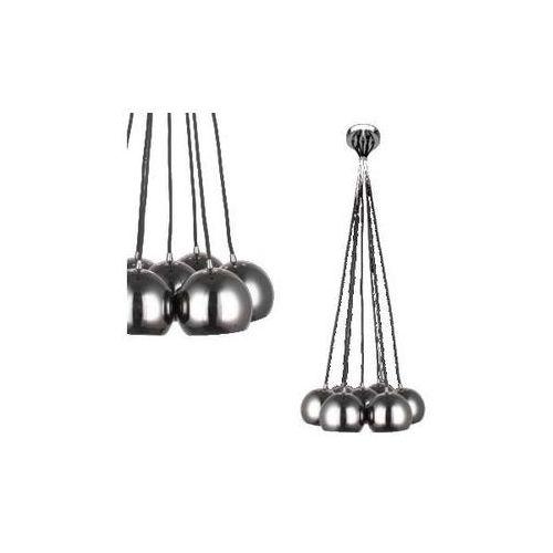 LAMPA wisząca PUNTO LP-22872/7P Light Prestige metalowa OPRAWA zwis kule balls grafitowe, LP-22872/7P