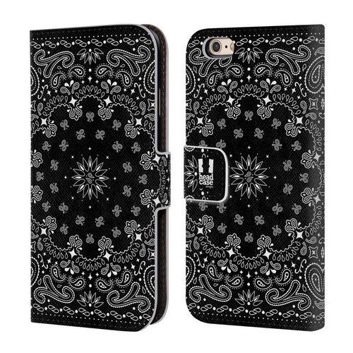 Etui portfel na telefon - Classic Paisley Bandana Black, kolor czarny