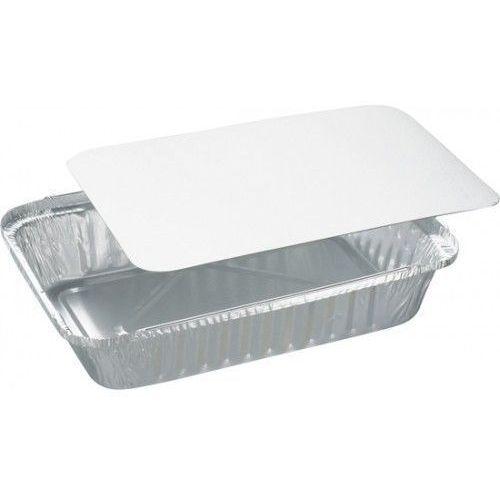 Pudełko z papierową przykrywką   220x155x38 mm   400szt. - produkt z kategorii- Pojemniki i kosze gastronomiczne