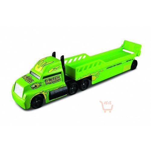 highway haulers – ciężarówka z naczepą (laweta) kolor zielony marki Maisto