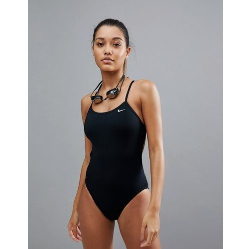 Nike Cut-Out Swimsuit In Black - Black, w 2 rozmiarach