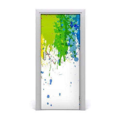 Naklejka samoprzylepna na drzwi Abstrakcyjna tęcza