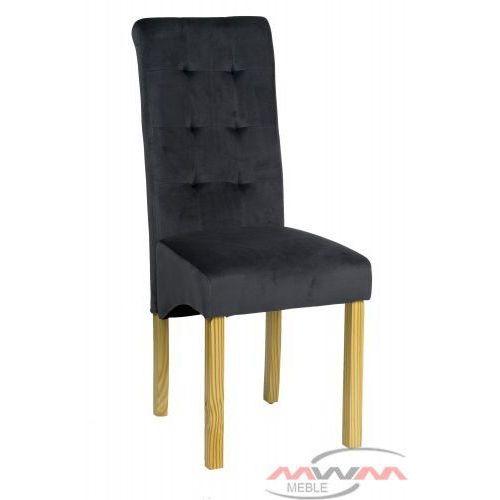 Meblemwm Krzesło tapicerowane drewniane bq-8179b welur czarne nogi