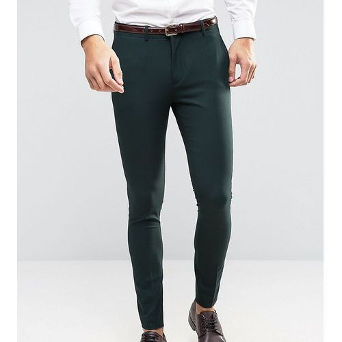 suit trouser in superskinny fit with stretch - green marki Selected homme