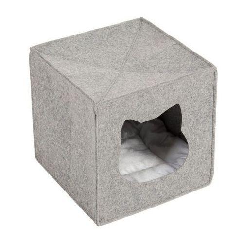 Filcowa budka dla kota do regału - Dł. x szer. x wys.: 33 x 33 x 33 cm
