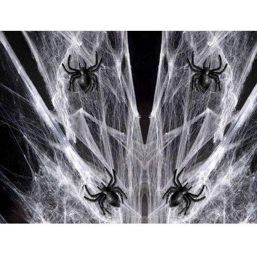 Sieć, pajęczyna pająka 60 g z 12 pająkami na Halloween