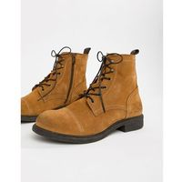 Selected homme suede lace up boot - beige