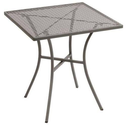 Ażurowy stolik ogrodowy | kwadratowy | różne kolory | 700x700x(h)710mm marki Bolero
