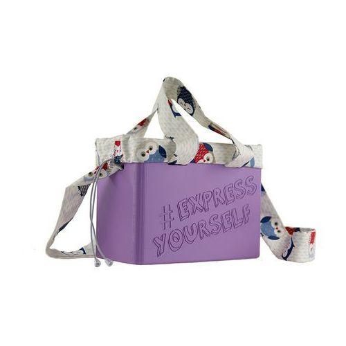 """Torebka Cubie Bag """"Express Yourself"""" - Ciemny fiolet, F798-58022"""