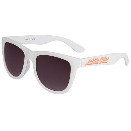 Okulary słoneczne - classic strip sunglasses white (white) rozmiar: os marki Santa cruz