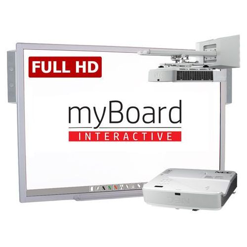 Zestaw interaktywny silver full hd lux 90 panorama marki Myboard