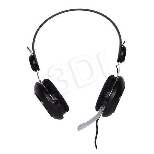 4World Słuchawki nauszne z mikrofonem 4World 09961 (Czarny)