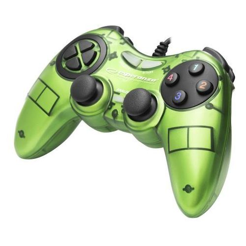 "Gamepad PC USB Esperanza ""Fighter"" zielony (5901299946992)"