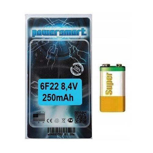 Powersmart Najmocniejszy akumulator 9v / 8,4v 6f22 250 mah