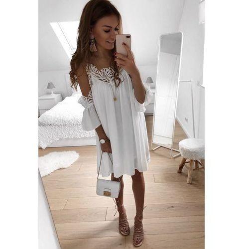 Sukienka ELIZABETA, kolor biały