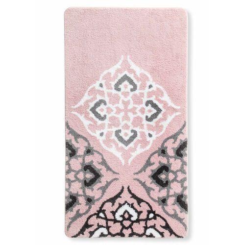Dywaniki łazienkowe z motywem ornamentów różowo-szary marki Bonprix