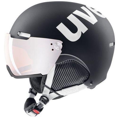 Uvex Kask narciarski hlmt 500 visor czarny/biały s5662132107 l 59-62