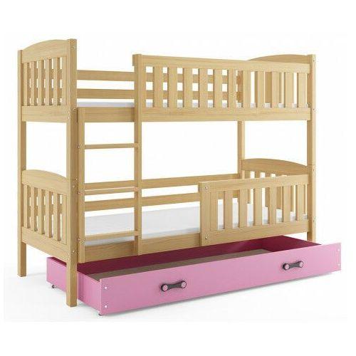 Elior Drewniane łóżko dla dzieci z drabinką 80x190- celinda 2x